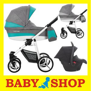 Bebetto Vulcano 3w1 wózek stroller pram Kinderwagen 3in1 car seat adapter 2018