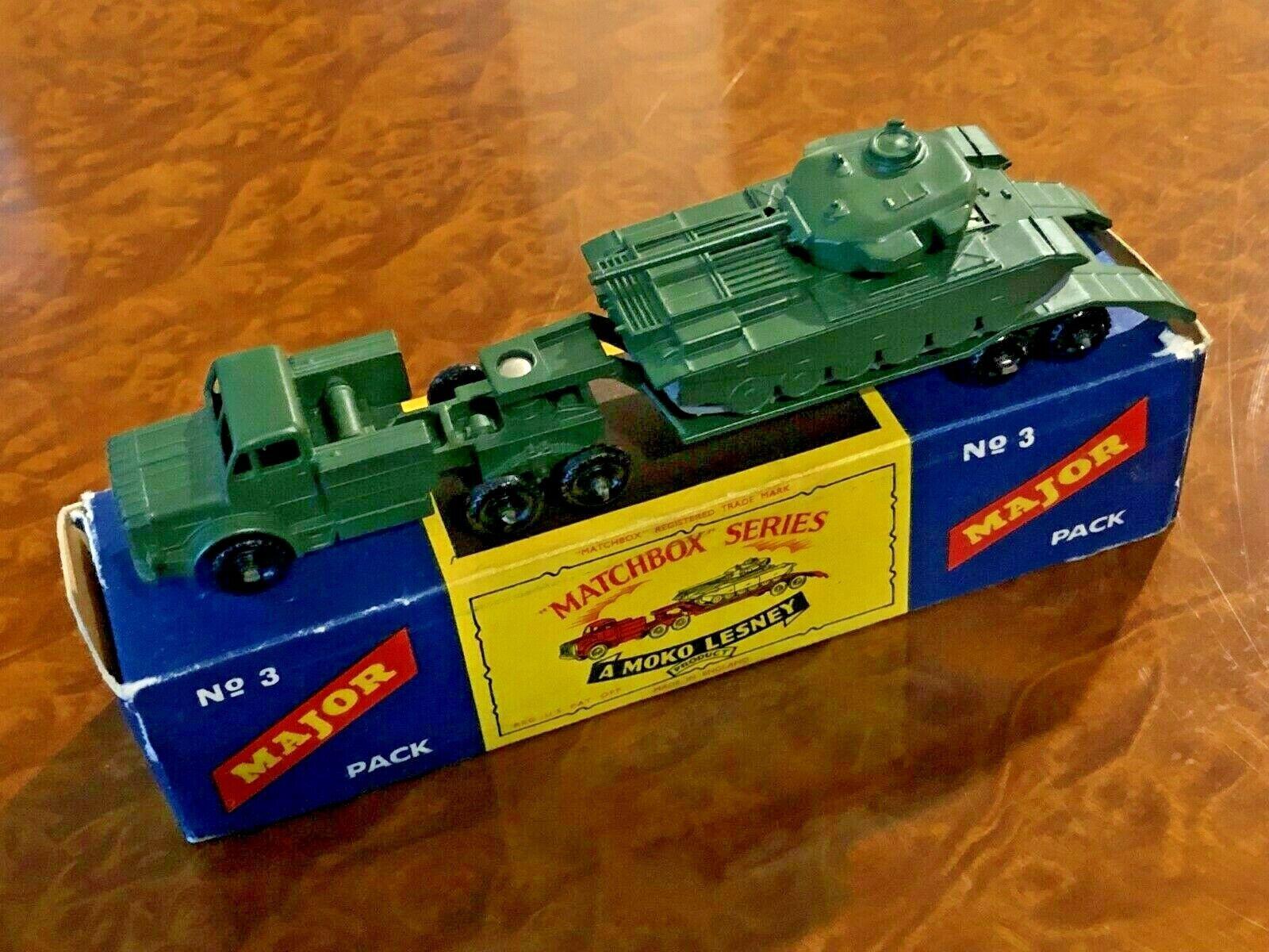 Vintage Matchbox Major No. 3   MIB   Mighty Antar Transporter & Centurion Tank