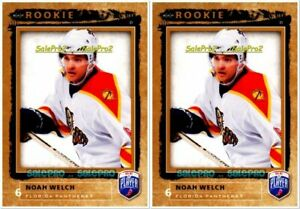 2x-BAP-BE-A-PLAYER-2006-NOAH-WELCH-NHL-RC-FLORIDA-PANTHER-MINT-ROOKIE-215-LOT