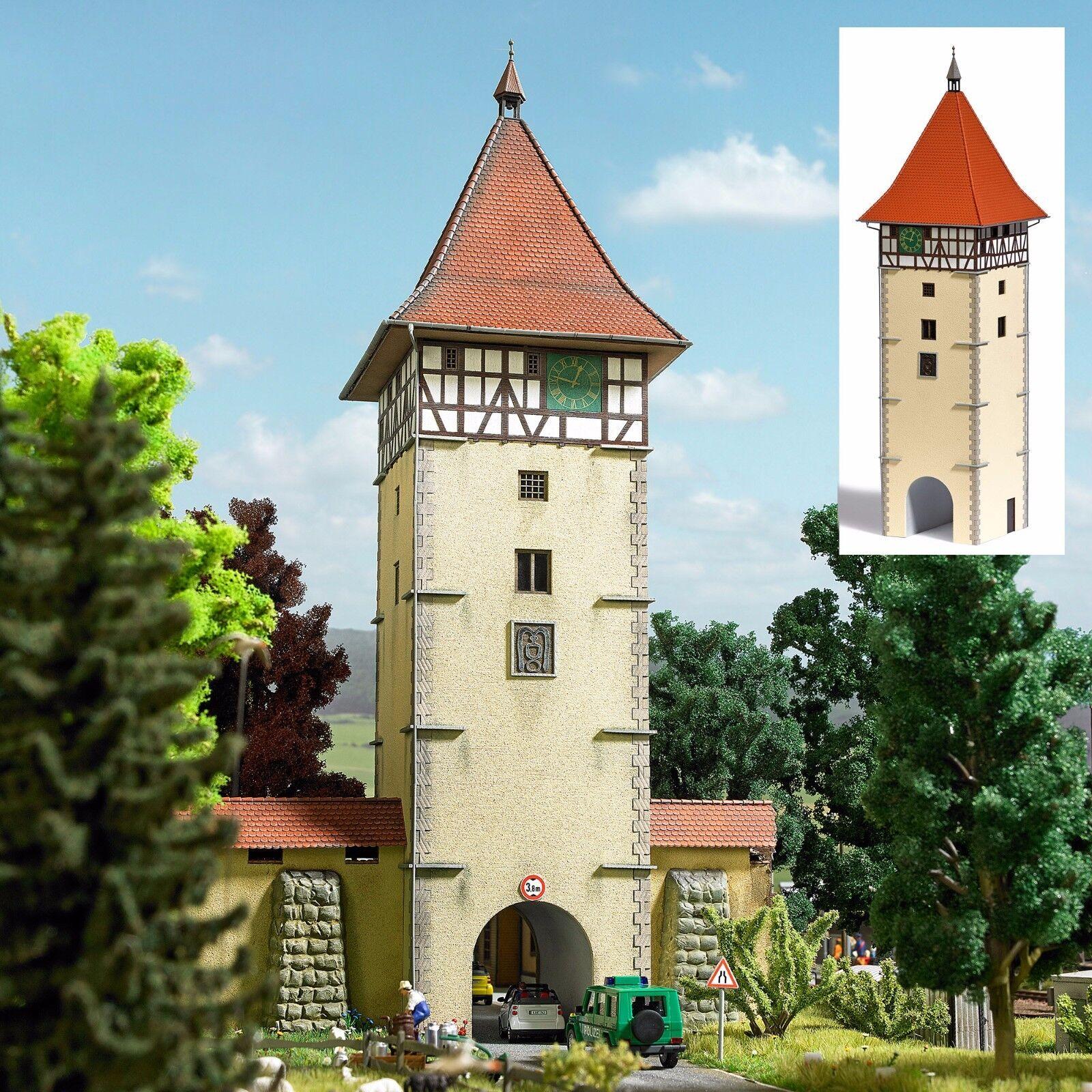 Busch 1596 Scala H0 Torturm   Nuovo in Confezione Originale