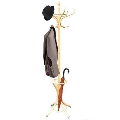 Prestige Coat Stand Pine Floor Standing Wood Umbrella Stand Hat By Home Discount