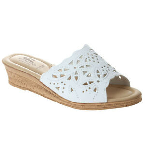 Image is loading Spring-Step-ESTELLA-Womens-White-Leather-Comfort-Slip-