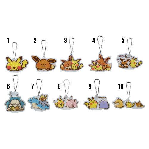 Pokemon Center Original Pokemon Yurutto Acrylic Charm #9 Ditto /& Pikachu