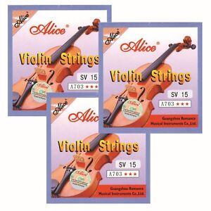 Violinen-Geigen-Saiten-3Satz-Markenqualitaet-Staerke-010-029-auch-fuer-E-Geige