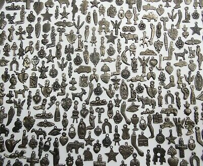 2000 MILAGROS black and silver color mexican folk art charms wholesale 5 pound