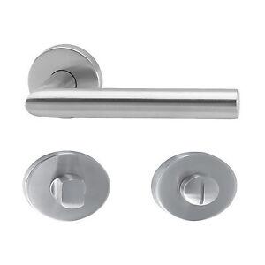 Tuergriff-Tuerbeschlag-Drueckergarnitur-Tuerklinke-Edelstahl-matt-WC-Tuer-L-Form