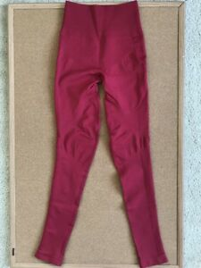 8e7aca14d8327f Image is loading Lululemon-Red-Cranberry-Zone-In-Tight-Compression-Leggings-