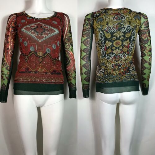 Rare Vtg Jean Paul Gaultier Soleil Red & Green Pri