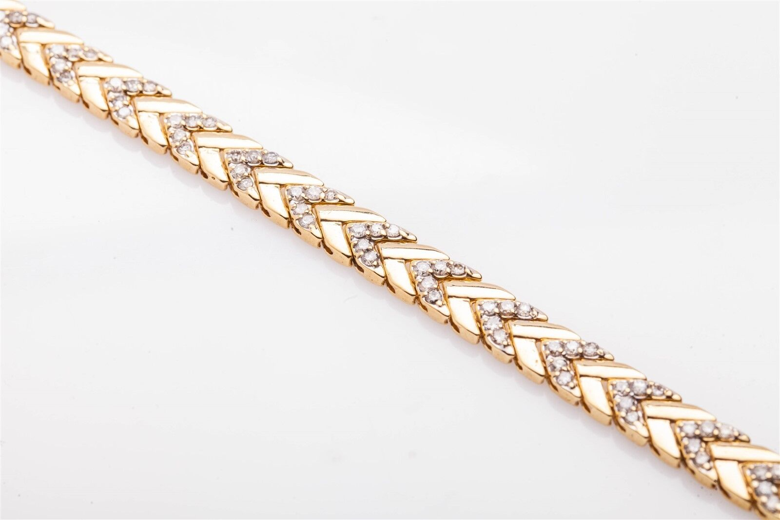 Designer  10K 4ct Diamond 14k Yellow gold 9mm CHEVERON LINK Tennis Bracelet 20g