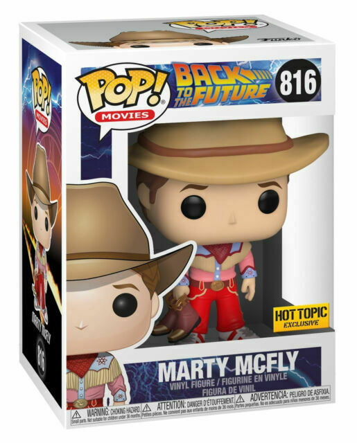 FUNKO pop vinyl back to the Future Marty mcfly cowboy