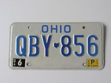ORIGINAL USA NUMMERSCHILD OHIO QBY-856 US LICENSE PLATE 1983
