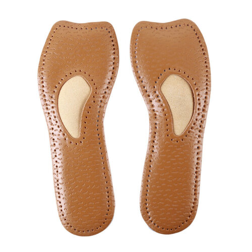 Leather Latex Cropped Pad High Heels Non-slip Breathable Insole Invisible