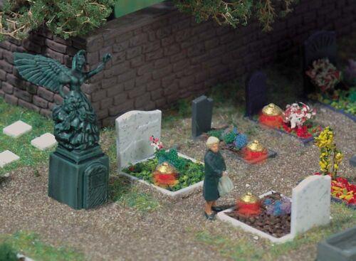 Busch 5404 pista h0 tumbas con lámparas funerarias #neu en OVP #