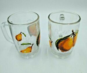 Vintage-Parka-Glass-D-Handle-Juicer-Glasses-Set-of-2-Clear-Pear-Design