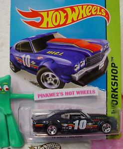 2015-Hot-Wheels-039-70-CHEVY-CHEVELLE-194-Midnight-Blue-10-Speed-Team-Case-D