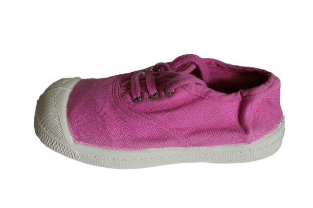 tennis bensimon à lacets rose violet fille
