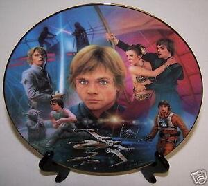 Star-Wars-Plate-Luke-Skywalker-Heroes-amp-Villains-Certificate-of-Authenticity