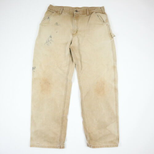 Destroyed Carhartt Canvas Pants Sun Faded Paint Di