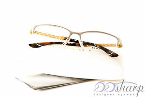 b32af38a487 Image is loading Versace-Eyeglasses-VE-1228-1266-53-BRUSHED-SILVER