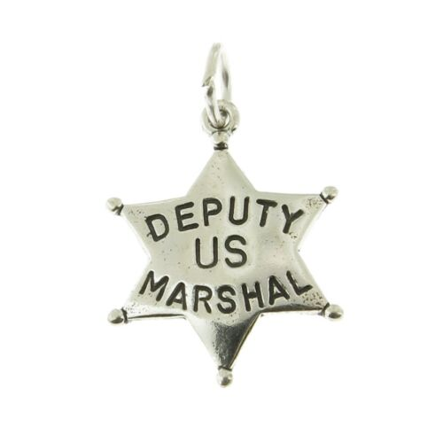 925 Sterling Silver US Marshall Charm Made in USA