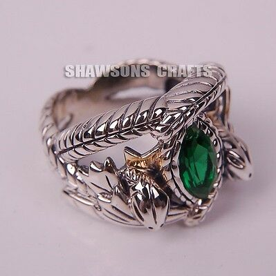 LORD OF THE RINGS JEWELRY ARAGORN'S RING OF BARAHIR PLATINUM PLATED FASHION MENS