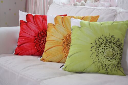 "Taie d/'oreiller Coussin Housse /""Fiore/"" 40x40cm 100/% polyester motif fleurs"