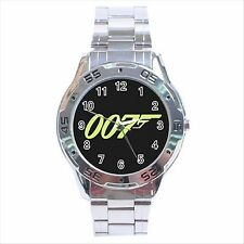 NEW* HOT JAMES BOND 007 Stainless Steel Analogue Wrist Watch Gift