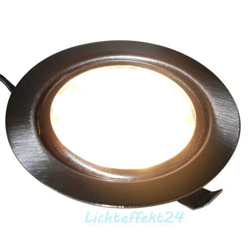 flache LED Möbel Einbaustrahler Lina 12V Downlights 3W 200 Lumen 1--/>5er Sets
