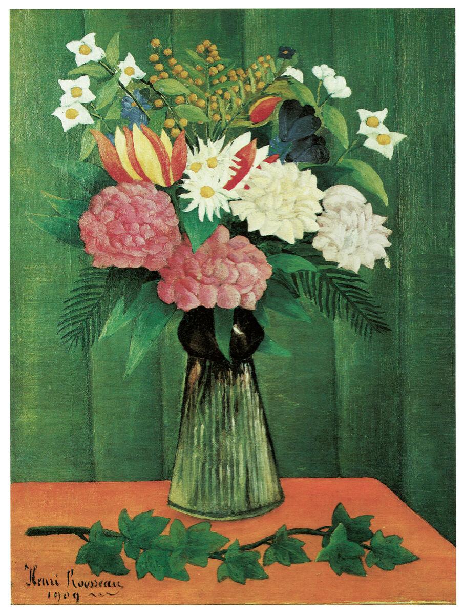 16x20 Decoration CANVAS.Interior room design art.Flower vase painting.6655