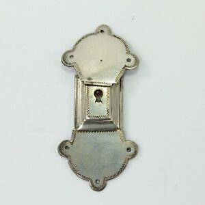 Lock plate clasp antique Georgian white metal miniature early 19th century #6