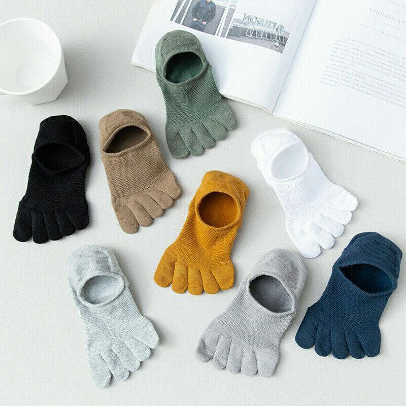 Herren Kurz Socken Weich Atmungsaktiv Baumwolle Zehen Söckchen Zehenabschnitt .