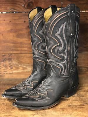 e43def89721 Corral Men's Distressed Dark Grey Embroidered Snip Toe Boots G1384 | eBay