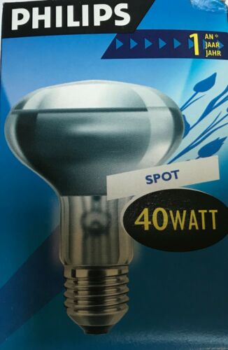 432 PHILIPS Reflektor LAMPE R80 E27 230V 40W//60W STRAHLER  SPOT Code:012// 456