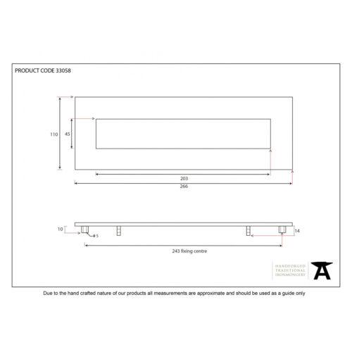 ATC Anvil 33058 étain Traditional Blacksmith période Letterplate-Petit