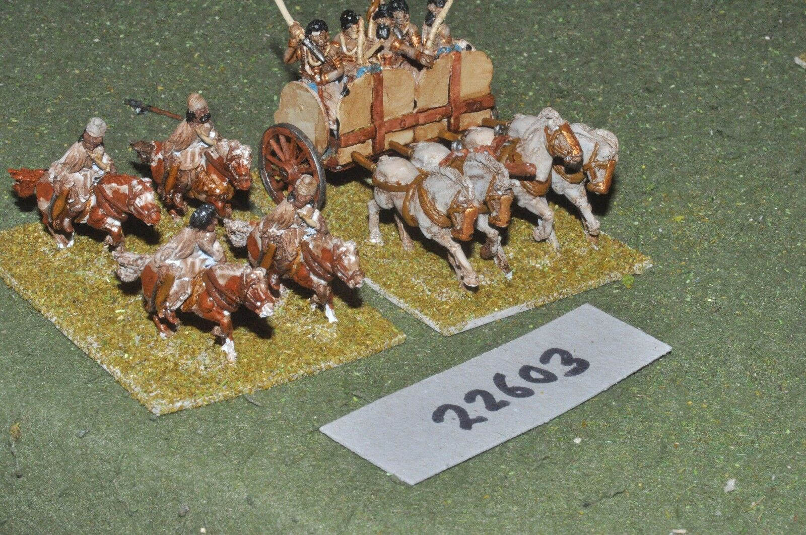 25mm Classical   Indian - general chariot & escort - command (22603)