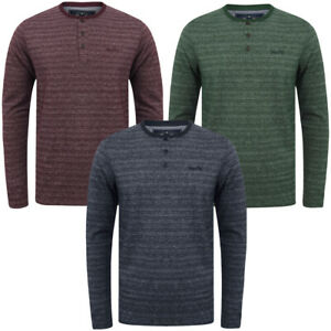 Tokyo-Laundry-Men-Hoaden-Crew-Neck-Long-Sleeve-T-Shirt-Top-Henley-Grandad-Collar