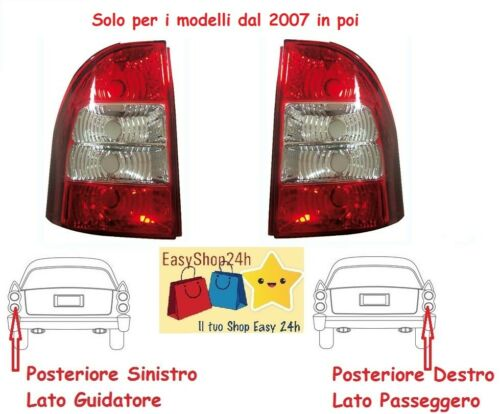 SET 2 FARO FANALE FANALINO POSTERIORE PER FIAT STRADA PICK UP GRUPPO OTTICO STOP
