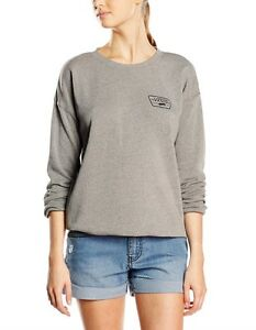 abbeff9af18426 NEW VANS AUTHENTIC TRAP HEATHER CREW WOMEN S SWEATER JUMPER TOP SIZE ...