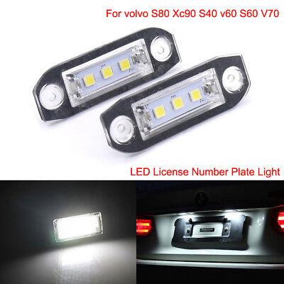 Canbus Error Free LED Licence Plate Lights For Volvo S40 S60 V50 V70 XC60 XC90