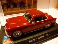 Voiture 1/43 IXO altaya SIMCA : 9 sport 1953