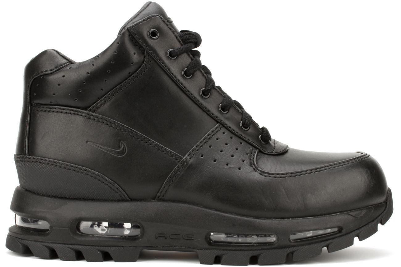 Nike Air Max Goadome 2013 599474-050 Svart Läder Stövlar Män SZ 9