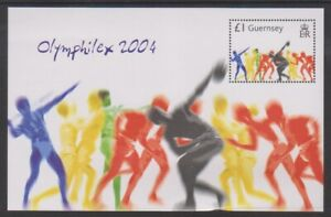 Guernesey-2004-Jeux-Olympiques-Athenes-Feuille-MNH-Sg-MS1049