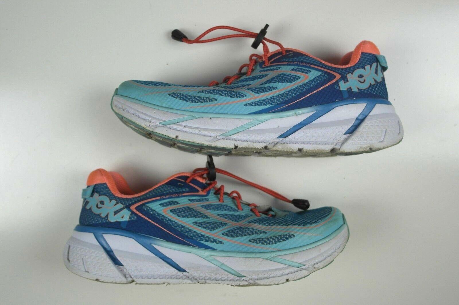 Huka para mujer Clifton 3 Calzado para Correr 1012045 Talla 9.5 Azul rosado 1012045 Correr entrenamiento 1fb37c