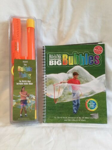 The Bubble Thing How To Make Monstrous Huge Bubbles By Klutz Brand New In Box