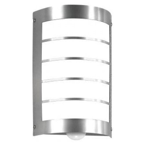 Lámpara exterior detectores de movimiento e27 acero inoxidable cepillado acero Modern