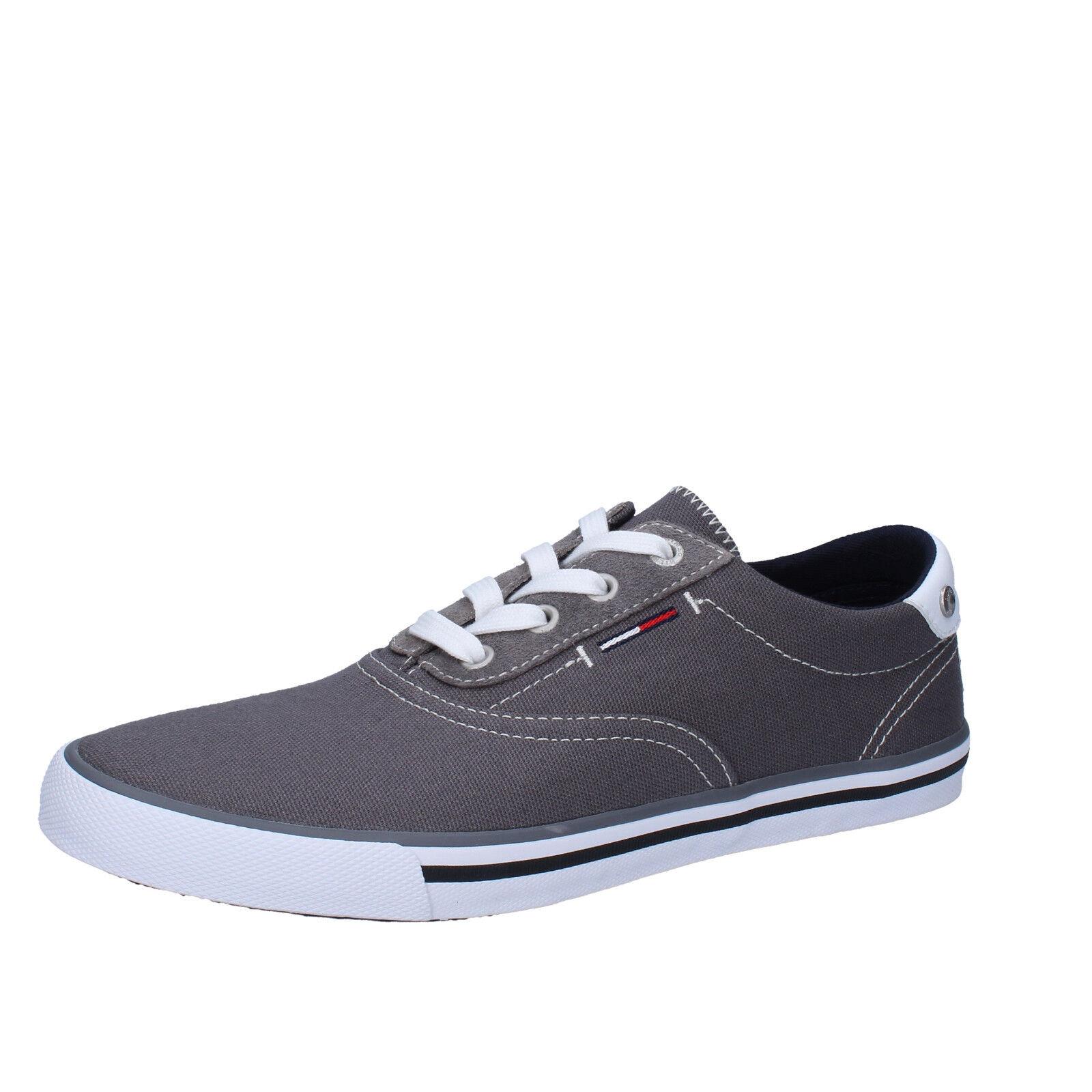 men's shoes TOMMY HILFIGER DENIM 12 () sneakers gray textile AB948-G