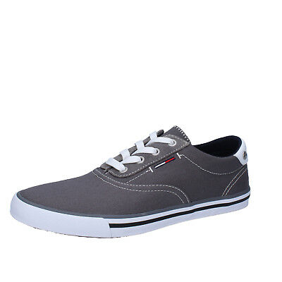 Bete jag är hungrig Gungfly  men's shoes TOMMY HILFIGER DENIM 7 (EU 40) sneakers gray textile ...