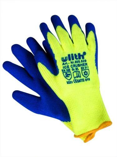 Latex Winter Top Handschuh ICE CRUSHER WARNGELB Gr.10
