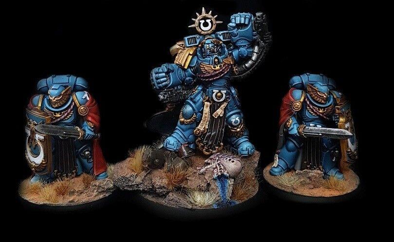 Marneus  Calgar Chapter Master + 2 Guards Commission Superbly Painted 40K  sortie en vente