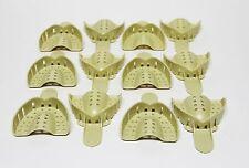Dental Plastic Disposable Impression Trays Perforated Autoclavable Um 3 12 Pcs